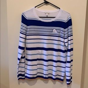 Talbots Whale Striped Knit Sweater
